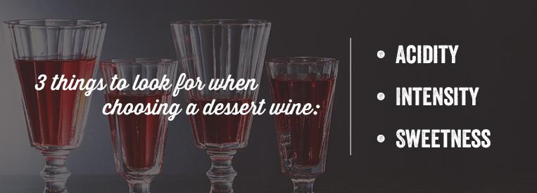 desserts and wine