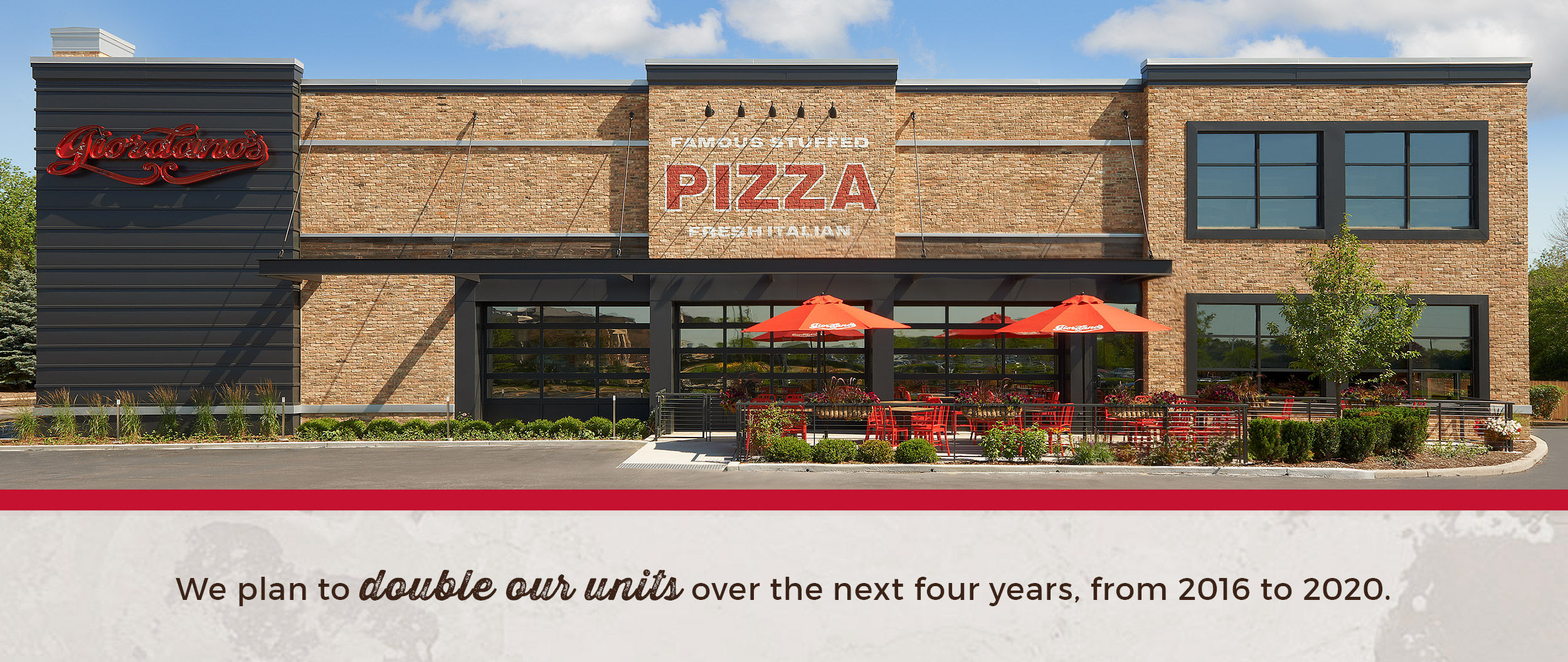 in 2016 we will open seven to 10 new franchise units and seven to 10 new company units in multiple markets we are targeting the following areas for - Olive Garden Francise