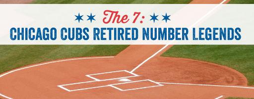 Chicago Cubs Retired Number Legends