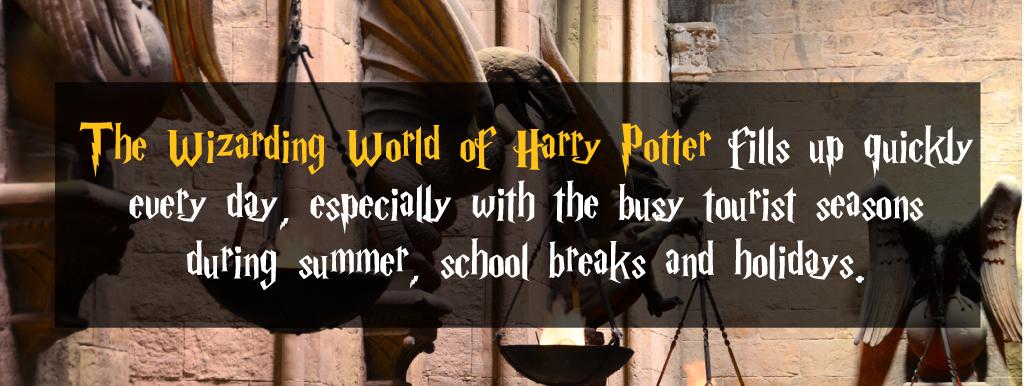 harry potter world busy seasons