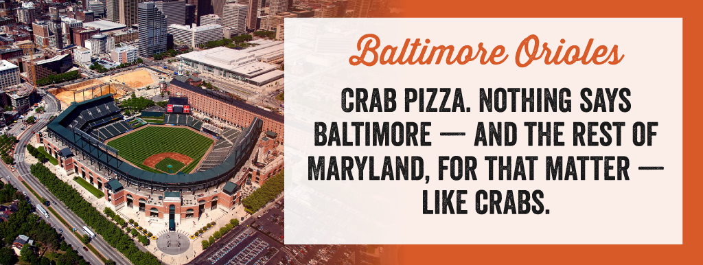 The Baltimore Orioles are Crab Pizza