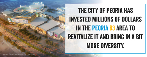 The city of Peoria has invested millions of dollars in the Peoria 83 area to revitalize and bring in a bit more diversity.