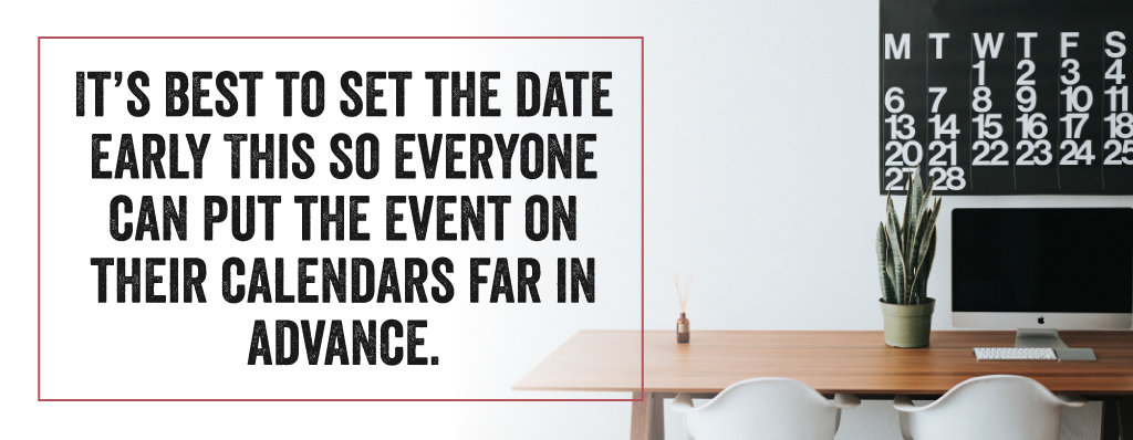 Set A Date Early