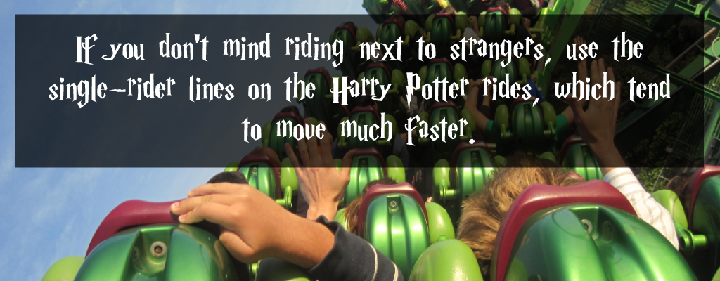 use single rider lines at harry potter world