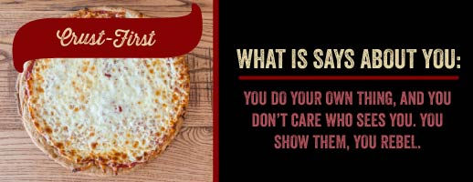 Eating your pizza crust first?!