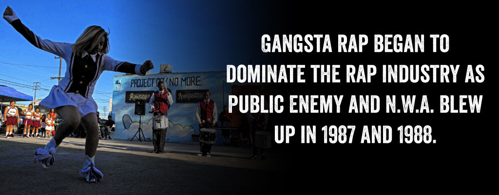 Gangsta Rap Began To Dominate The Rap Industry As Public Enemy And N.W.A. Blew Up In 1987 and 1988.