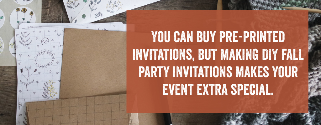 You can buy pre-printed invitations.