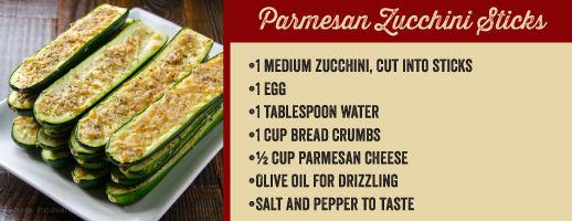 Parmesan-Zuccini-Sticks