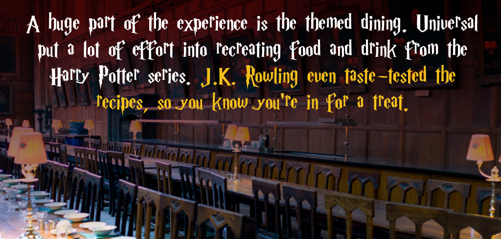 themed dining at harry potter world
