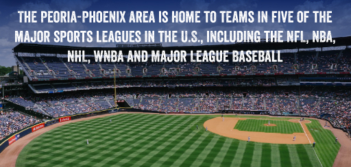 The Peoria-Phoenix area is home to teams in five of the major sports leagues in the U.S., including the NFL, NBA, NHL, WNBA and Major League Baseball.