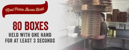 80 boxes held with one hand for at least 3 seconds