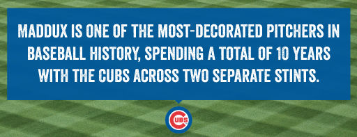 Maddux is one of the most-decorated pitchers in baseball history.