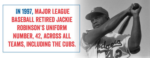 Jackie Robinson's uniform number, 42, was retired across all teams.