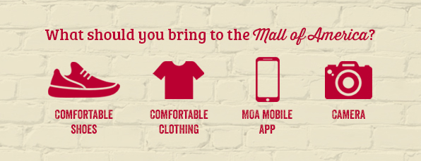 What should you bring to the Mall of America?