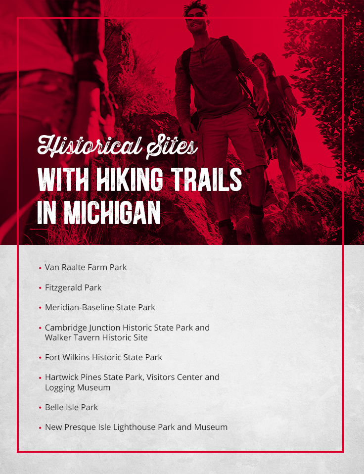 Historical Sites With Hiking Trails in Michigan