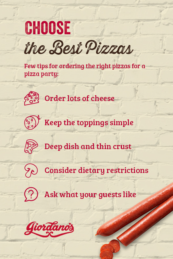 Choose the Best Pizzas for Your Pizza Party