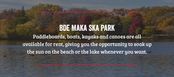 Bde Maka Ska Park in Minneapolis