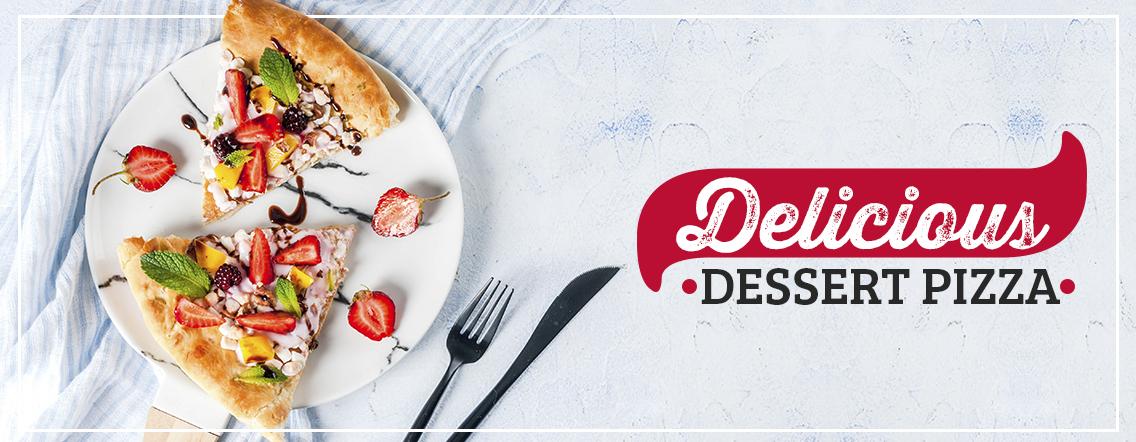 delicious dessert pizza
