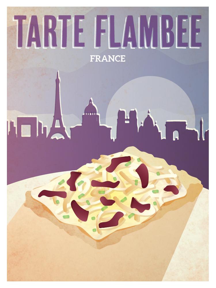 french tarte flambee