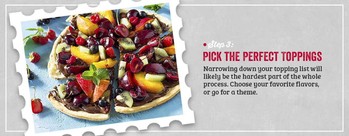 dessert pizza toppings