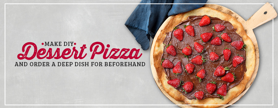 DIY dessert pizza