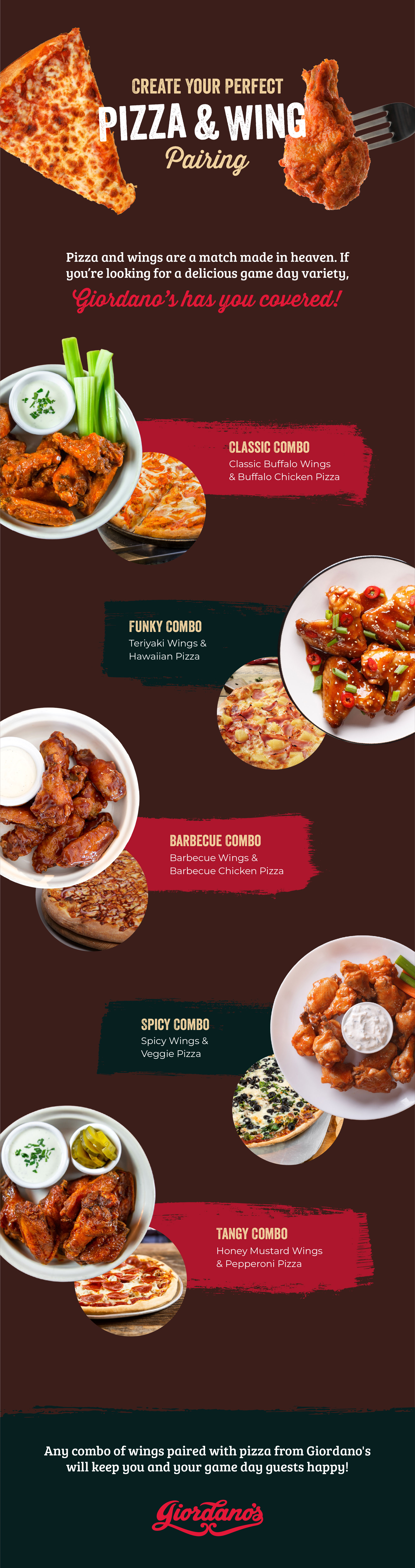 pizza and wing combos